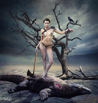 Photocreation: Gonzalo Villar - Model: Oksana Chucha – Photo of model: Angel Cabezas